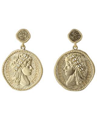 Cléopâtre golden stud earrings COLLECTION CONSTANCE