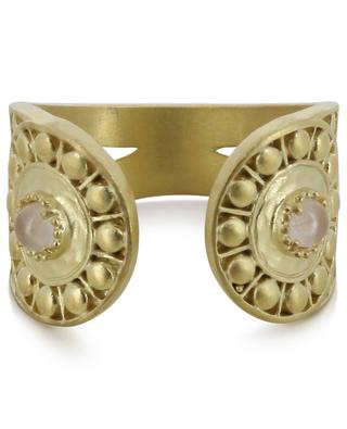 Opale open rose quartz adorned golden ring COLLECTION CONSTANCE