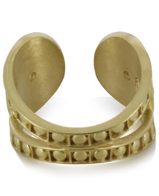 Opale open rose quartz adorned golden ring COLLECTION CONSTANCE