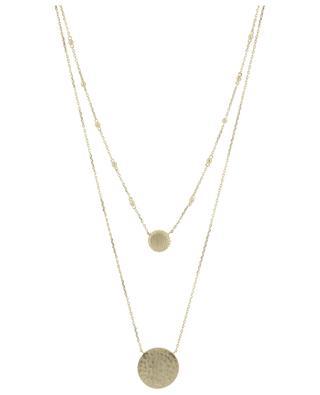 Doppelte Halskette aus goldenem Metall Eole COLLECTION CONSTANCE
