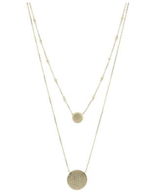 Eole golden metal double necklace COLLECTION CONSTANCE