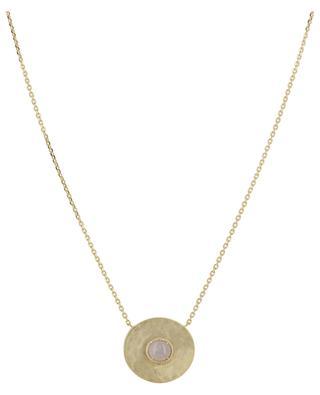 Vergoldete Halskette mit Rosenquarz Helene COLLECTION CONSTANCE