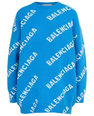 Logo Allover Jacquard wide wool blend jumper BALENCIAGA