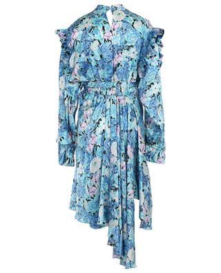 Asymmetrisches Kleid mit Blütenprint und Rüschen BALENCIAGA