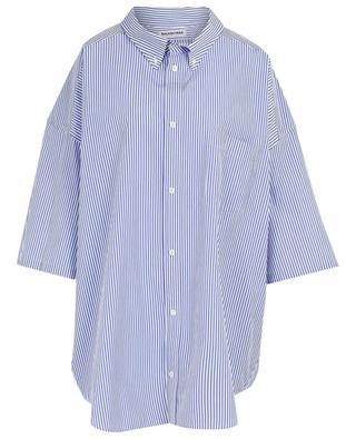 Cocoon Swing loose striped poplin cotton shirt BALENCIAGA