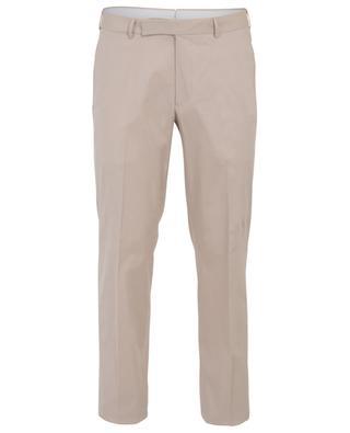 Premium cotton gabardine slim fit trousers ERMENEGILDO ZEGNA