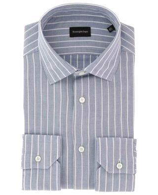 Milano striped textured cotton shirt ERMENEGILDO ZEGNA