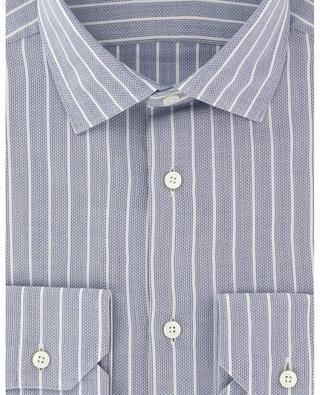 Gestreiftes Hemd aus texturierter Baumwolle Milano ERMENEGILDO ZEGNA