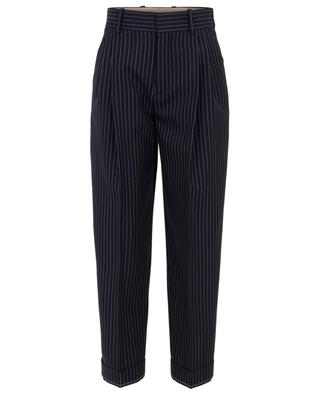 Virgin wool carrot pants with stripes CHLOE