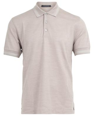 Cotton and silk polo shirt ERMENEGILDO ZEGNA