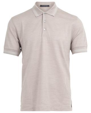 Cotton and silk polo shirt ERMENEGILDO ZEGNA