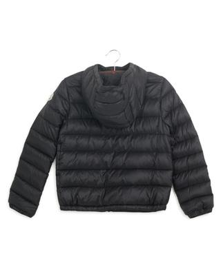 Rook hooded down jacket with tricolour detail MONCLER
