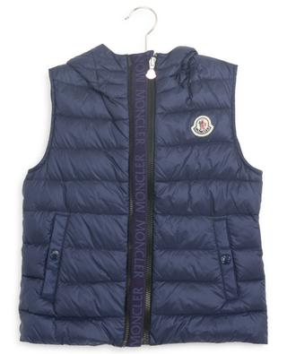 Christie hooded quilted vest with logo detail MONCLER