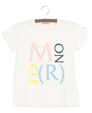 White T-shirt with multicolour logo print MONCLER