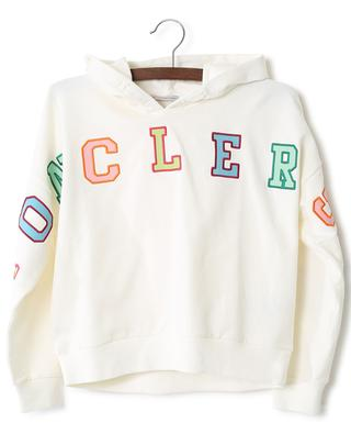 Logo embroidered cotton blend hoodie MONCLER