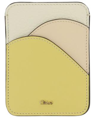 Kartenetui aus genarbem und glattem Leder Walden CHLOE