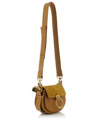 Small Tess grained leather and suede shoulder bag CHLOE