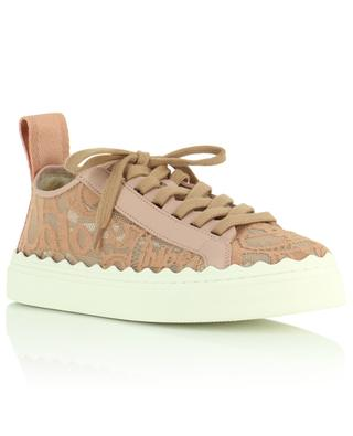 Lauren logo lace sneakers with leather CHLOE