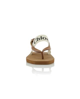 Woody logo canvas and leather and flat sandals CHLOE