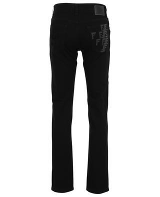 FF detail cotton slim fit jeans FENDI