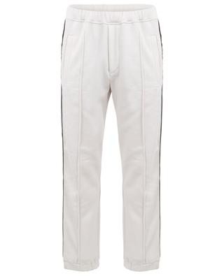 Pantalon de jogging en coton, laine, soie et cachemire logo FF FENDI