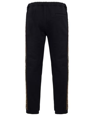FF logo cotton, wool, silk and cashmere jogging trousers FENDI