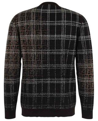 FF jacquard and checks wool round neck jumper FENDI