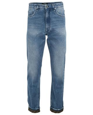 Straight fit distressed jeans with FF detail FENDI