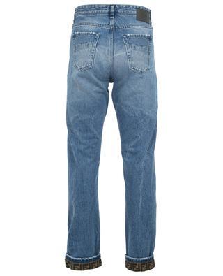 Gerade Used-Look-Jeans mit FF-Detail FENDI