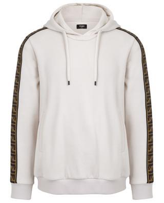 Sweat-shirt en coton, laine, soie et cachemire logo FF FENDI