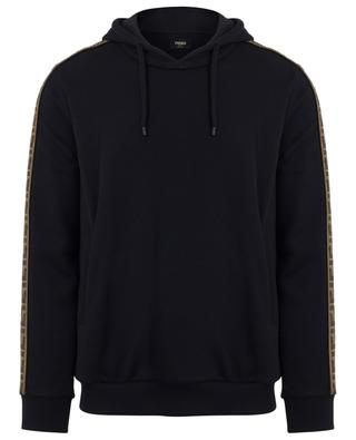 FF logo cotton, wool, silk and cashmere hoodie FENDI