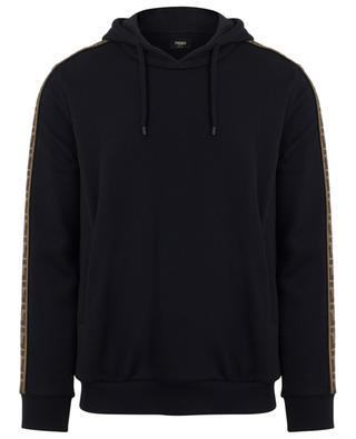 Sweatshirt aus Baumwolle, Wolle, Seide und Kaschmir mit FF-Logo FENDI
