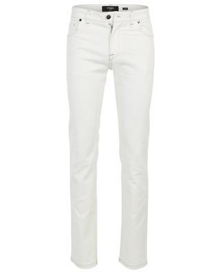 Monogrammed cotton stretch slim fit jeans FENDI