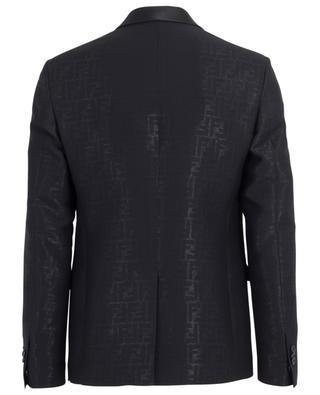 Virgin wool and silk blend smoking with shiny finish FENDI