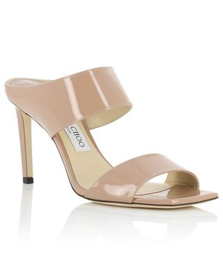 Hira 85 open patent leather square toe mules JIMMY CHOO