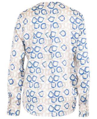 Bluse aus Seidenmix mit Print HERZEN'S ANGELEHEIT