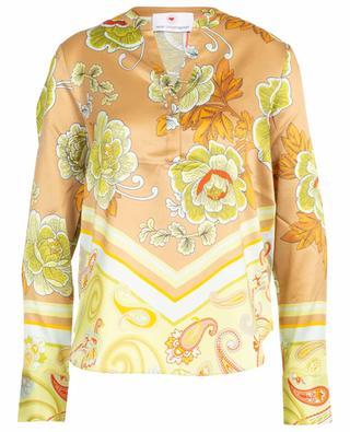 Geblümte Bluse aus Seidenmix mit Paisley-Print HERZEN'S ANGELEHEIT