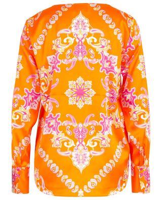 Bluse aus Seidenmix mit V-Ausschnitt und Paisley-Print HERZEN'S ANGELEHEIT