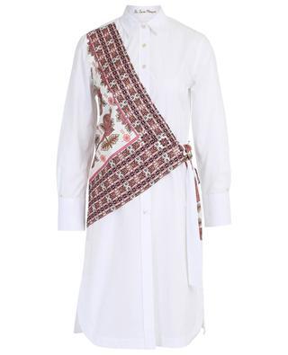 Robe chemise en popeline avec foulard en soie LE SARTE PETTEGOLE