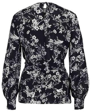 Atri flower and bird printed silk blouse MAX MARA STUDIO