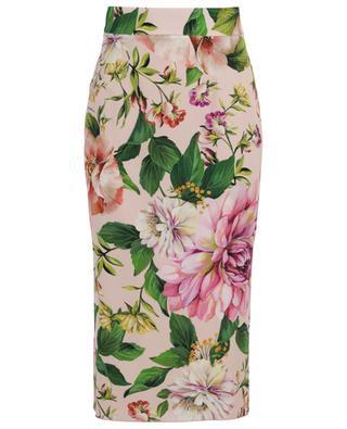 Floral Roses floral silk charmeuse skirt DOLCE & GABBANA