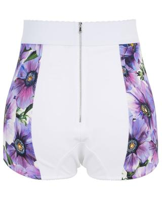 High-waist silk blend shorts DOLCE & GABBANA