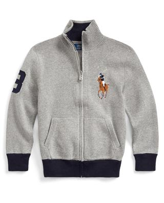 Big Pony embroidered zippered cardigan POLO RALPH LAUREN