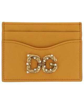 DG AMORE calfskin card holder DOLCE & GABBANA