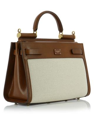 Sicily 62 Small canvas and cowhide tote bag DOLCE & GABBANA