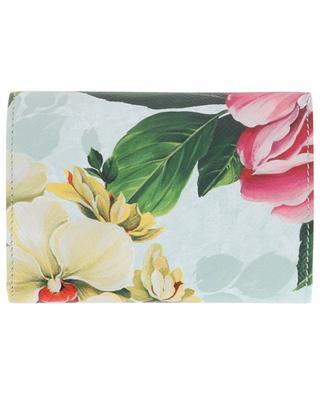 Geldbörse aus Leder mit floralem Print DOLCE & GABBANA