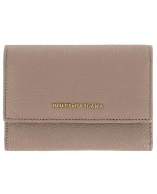 Compact grained leather wallet DOLCE & GABBANA