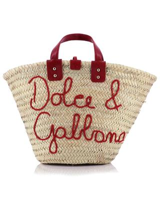 Kendra Coffa straw and leather beach tote DOLCE & GABBANA