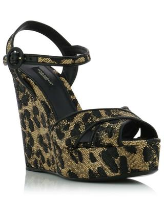 Leather platform sandals DOLCE & GABBANA