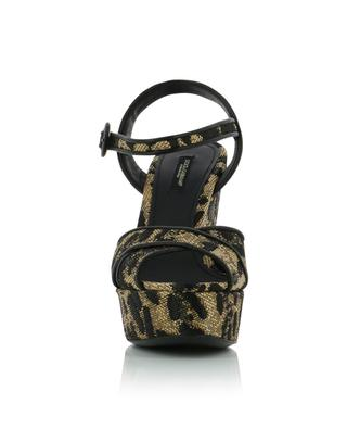 Leather platform sandals DOLCE & GABBANA
